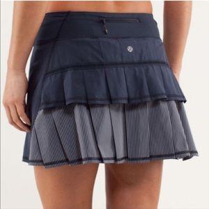 Lululemon Pacesetter Navy Striped Skirt